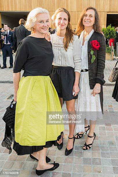Joy Corine Henderiks Baroness Eric de Rothschild and guest attend the dinner of Conseil des Grand Crus Classes of 1855 hosted by Chateau Mouton...