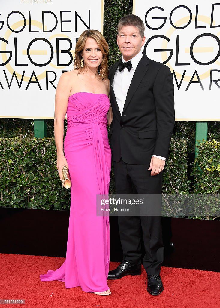 Joy Creel and Rob Liefeld attend the 74th Annual Golden Globe Awards at The Beverly Hilton Hotel on January 8, 2017 in Beverly Hills, California.
