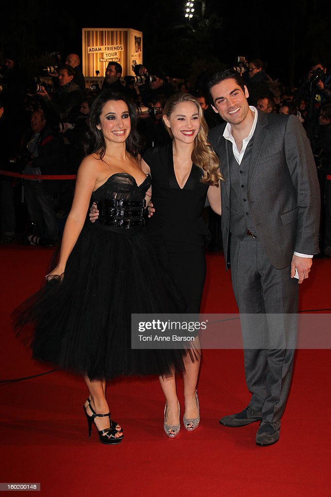 Joy Esther, Isabelle Vitari and Gil Alma arrives at the NRJ Music Awards 2013 at Palais des Festivals on January 26, 2013 in Cannes, France.