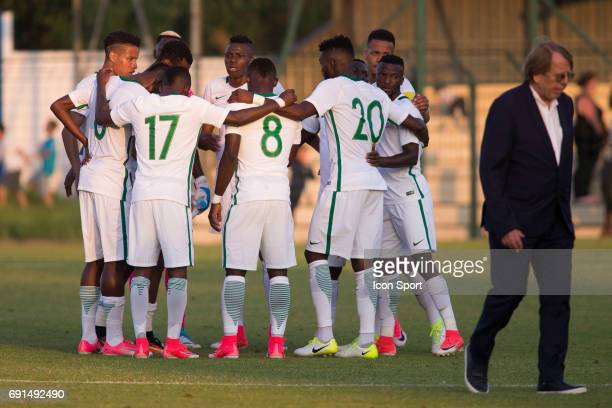 joy for team of Nigeria during the soccer friendly match between Nigeria and Togo on June 1 2017 in St LeulaForet France