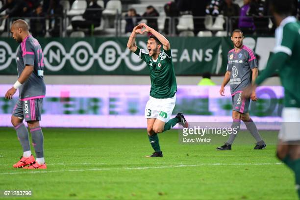 Joy for Xavier Chavalerin of Red Star as he puts his side 31 ahead during the Ligue 2 match between Red Star FC and Bourg en Bresse at Stade Jean...