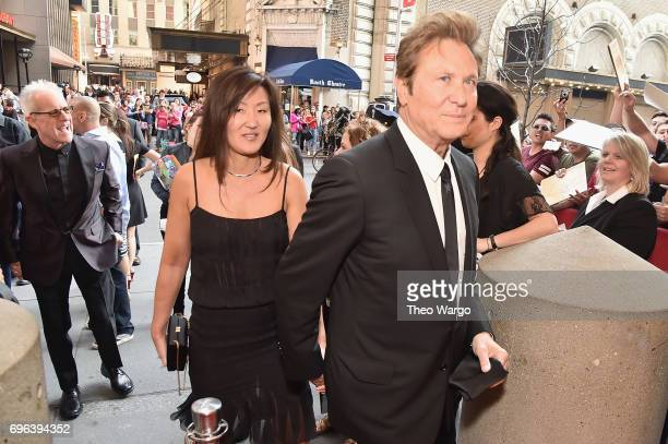 Joy Lamm and 2017 Inductee Robert Lamm attend the Songwriters Hall Of Fame 48th Annual Induction and Awards at New York Marriott Marquis Hotel on...