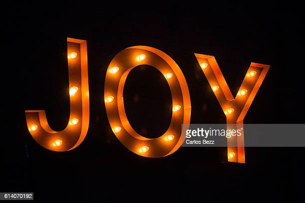 joy lightbulb sign