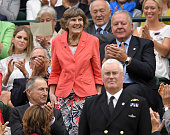 Joy Lofthouse attends day six of the Wimbledon Tennis Championships at Wimbledon on July 02 2016 in London England