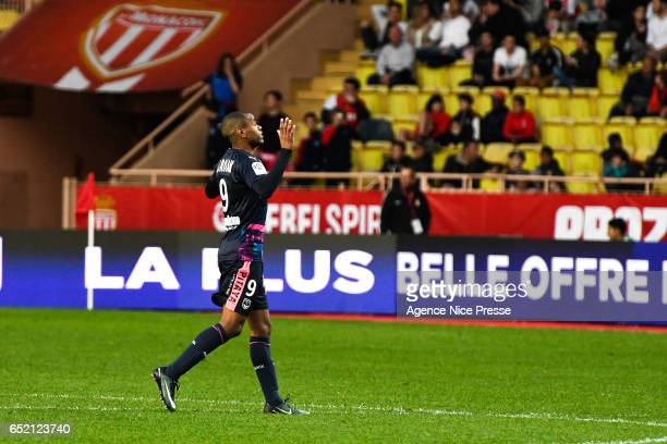 Joy of Diego Silva Rolan of Bordeaux during the Ligue 1 match between As Monaco and Girondins Bordeaux at Louis II Stadium on March 11 2017 in Monaco...