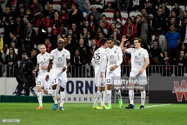 Joy of Ivan SANTINI of Caen during the Ligue 1 match between OGC Nice and SM Caen at Allianz Riviera on March 10 2017 in Nice France
