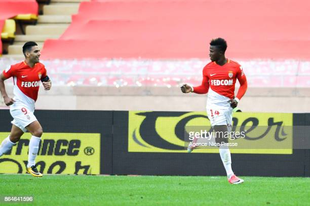 Joy of Keita Balde during the Ligue 1 match between AS Monaco and SM Caen at Stade Louis II on October 21 2017 in Monaco