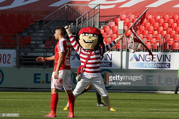 Joy of Neal Maupay of Brest at the end of the match during the Ligue 2 match between Stade Brestois 29 and RC Strasbourg Alsace on October 15 2016 in...