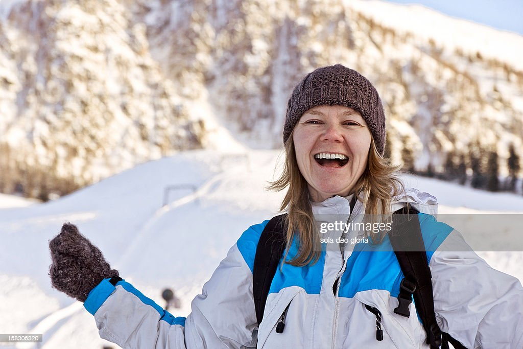 Joy of skiing : Stock Photo