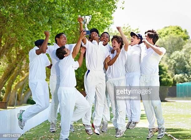 Alegría del equipo victoriosa