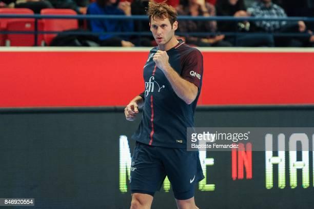 Joy of Uwe Gensheimer of PSG during Lidl Star Ligue match between Paris Saint Germain and US Ivry on September 13 2017 in Paris France