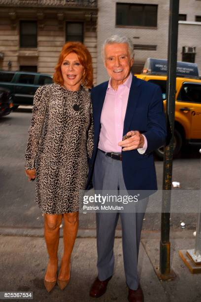 Joy Philbin and Regis Philbin attend Michael Gelman Celebrates The Launch Of CLASS MOM A Novel By Laurie Gelman at Loi Estiatorio on July 26 2017 in...