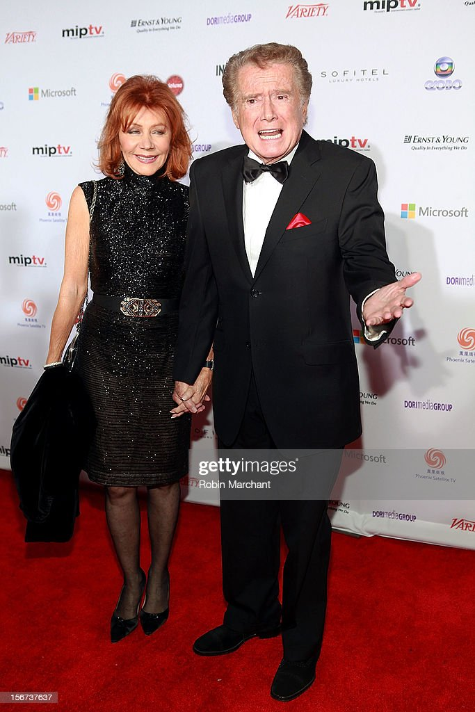 Joy Philbin (L) and Regis Philbin attend the 40th International Emmy Awards on November 19, 2012 in New York City.