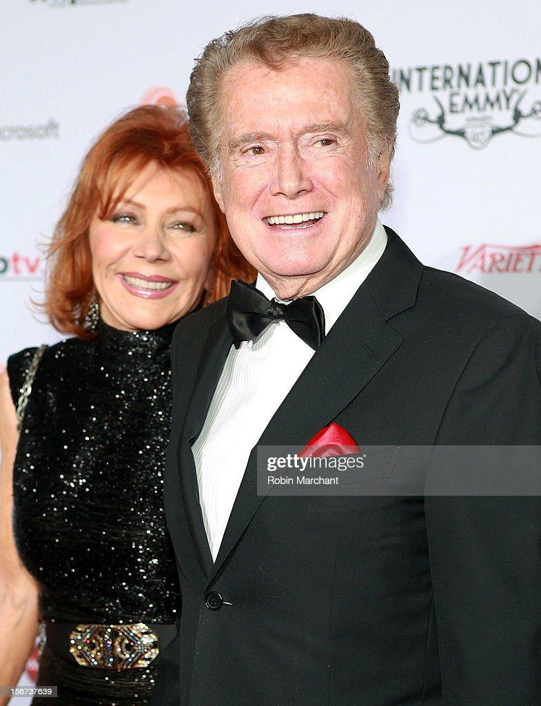 Joy Philbin (L) and Regis Philbin attend the 40th International Emmy Awards on November 19, 2012 in New York City.