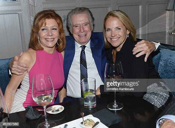 Joy Philbin Regis Philbin and Katie Couric attend 'Magic In The Moonlight' premiere after party at Harlow on July 17 2014 in New York City