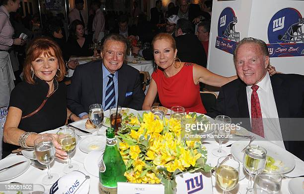 Joy Philbin Regis Philbin Kathy Lee Gifford and Frank Gifford attend the New York Giants Super Bowl Pep Rally Luncheon at Michael's on February 1...