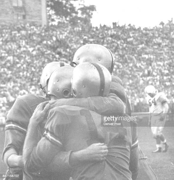 Joy Reigns in the Buff CampA group of Golden Buffaloes from Boulder weep with joy after the closing whistle Saturday in Folsom Field where the...