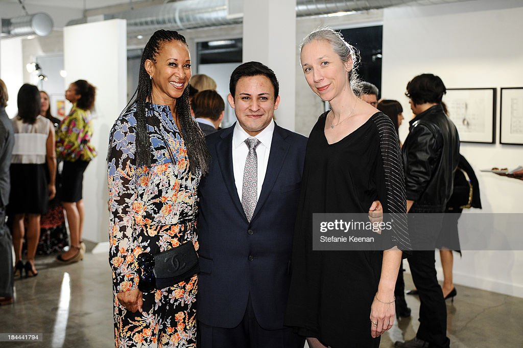 Joy Simmons, Cesar Garcia and Alexandra Grant attend The Mistake Room's Benefit Auction on October 13, 2013 in Los Angeles, California.