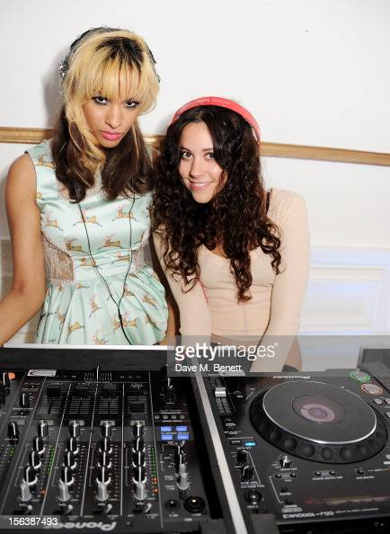 Joy Vieli and Eliza Doolittle DJ at a party celebrating the partnership between international fashion retailer Claire's and the world'sleading...