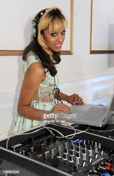 Joy Vieli DJ's at a party celebrating the partnership between international fashion retailer Claire's and the world'sleading children's organisation...