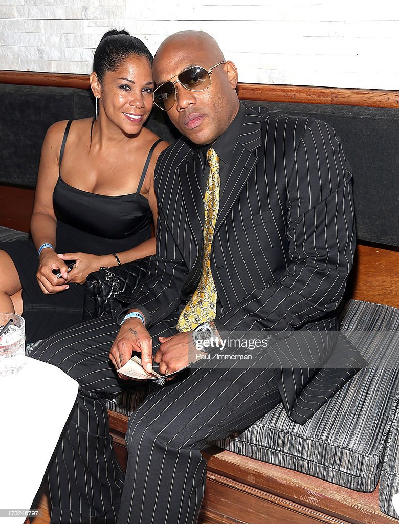 Joy Winans and <a gi-track='captionPersonalityLinkClicked' href=/galleries/search?phrase=Mario+Winans&family=editorial&specificpeople=217272 ng-click='$event.stopPropagation()'>Mario Winans</a> attend Renee Graziano's Celebrity dinner party at Midtown 1015 on July 10, 2013 in New York City.