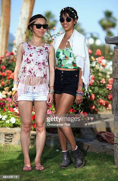 Joy Yap wearing shorts from Garage and top from Forever 21 and Christabel Fernandez wearing shorts Top Shop and a top from Zara attend day 2 of the...