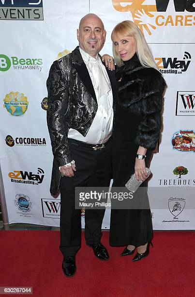 Joyce and Anjelika Kaufman arrive at eZWayCares Community Santa Toy Drive on December 18 2016 in Los Angeles California