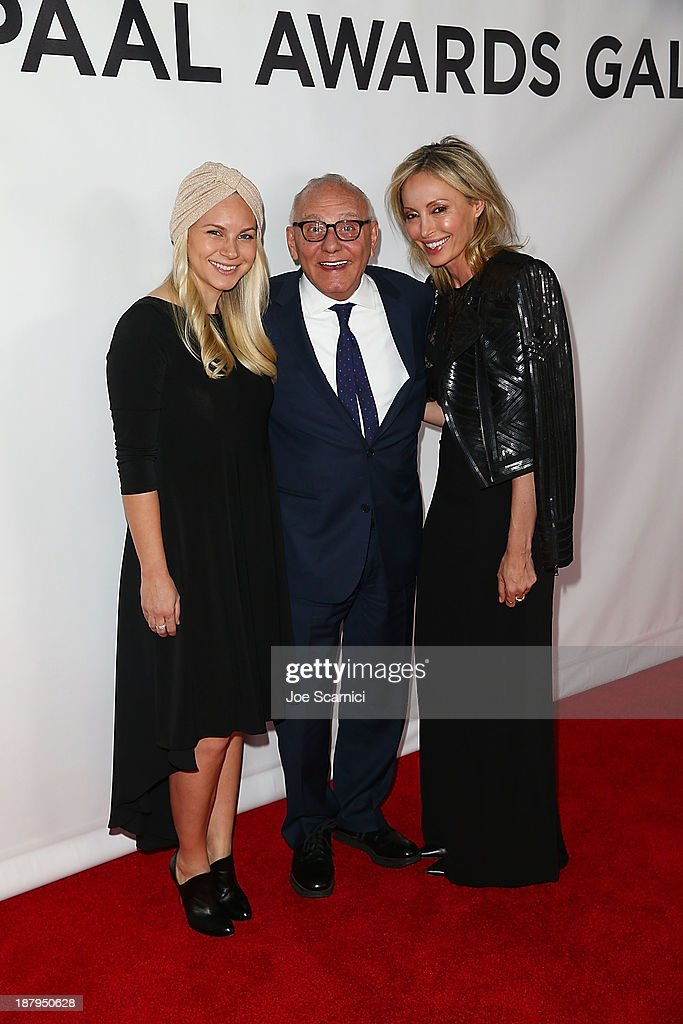 Joyce Azria, CEO BCBG Max Azria and wife Lubov Azria attend the 2013 Los Angeles Police Department South Los Angeles PAAL Awards Gala at Peterson Automotive Museum on November 13, 2013 in Los Angeles, California.
