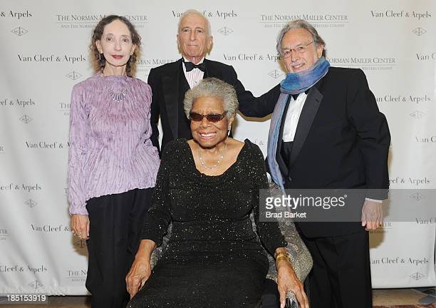 Joyce Carol Oates Gay Talese Lawrence Schiller and Dr Maya Angelou attend the Norman Mailer Center's Fifth Annual Benefit Gala sponsored by Van Cleef...