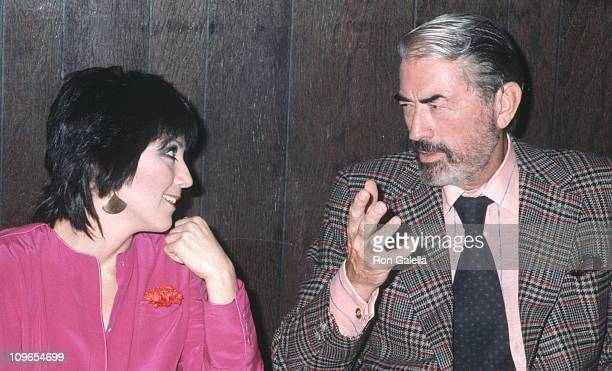 Joyce DeWitt and Gregory Peck during 16th Annual Hugh O'Brien Acting Awards at UCLA in Los Angeles California United States