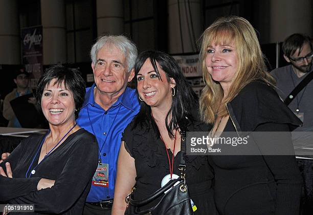Joyce DeWitt Richard Kline guest and Priscilla Barnes attend the 2010 New York Comic Con at the Jacob Javitz Center on October 8 2010 in New York City