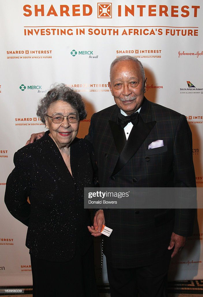 Joyce Dinkins (L) and <a gi-track='captionPersonalityLinkClicked' href=/galleries/search?phrase=David+Dinkins&family=editorial&specificpeople=171317 ng-click='$event.stopPropagation()'>David Dinkins</a> attend the Shared Interest 19th Annual Awards Gala on March 18, 2013 in New York City.