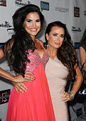 Joyce Giraud de Ohoven and Kyle Richards attend the 'The Real Housewives of Beverly Hills' and 'Vanderpump Rules' premiere party at Boulevard3 on...