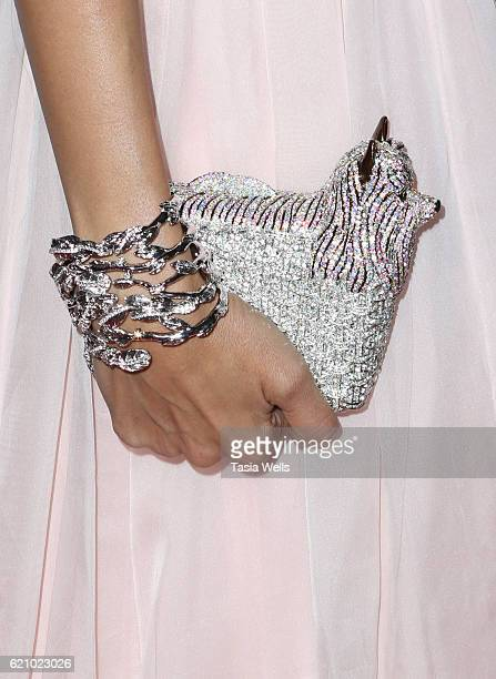 Joyce Giraud purse detail attends Vanderpump Dogs Foundation Gala at Taglyan Cultural Complex on November 3 2016 in Hollywood California