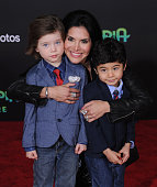 Joyce Giraud Valentino Ohoven and Leonardo Ohoven arrive at the premiere of Walt Disney Animation Studios' 'Zootopia' at the El Capitan Theatre on...