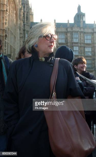 Joyce Horman whose husband Charles was among those who 'disappeared' in Chile in Westminster today where the House of Lords will today hear the case...