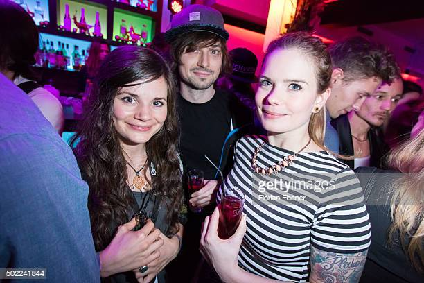 Joyce Ilg and Chris Halb attend the aftershow party of premiere for the film 'Bruder vor Luder' at Ivory on December 20 2015 in Cologne Germany