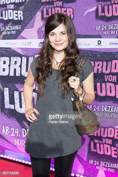 Joyce Ilg attends the premiere for the film 'Bruder vor Luder' at Cinedom on December 20 2015 in Cologne Germany