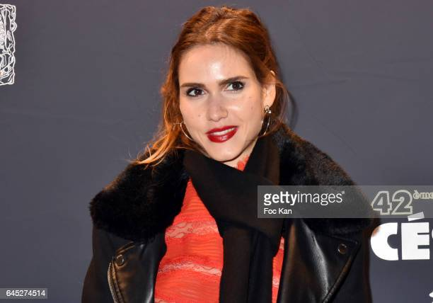 Joyce Jonathan attends the Cesar's Dinner at Le Fouquet's on February 24 2017 in Paris France
