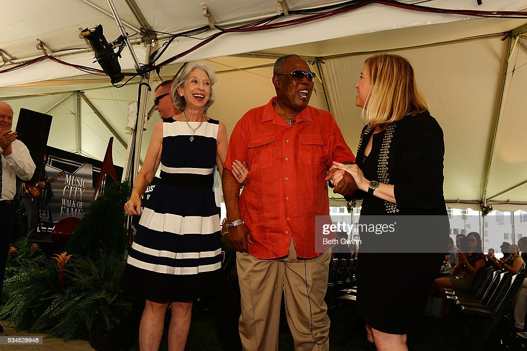 Joyce Moore, <a gi-track='captionPersonalityLinkClicked' href=/galleries/search?phrase=Sam+Moore&family=editorial&specificpeople=828179 ng-click='$event.stopPropagation()'>Sam Moore</a>, and Megan Barry attend the induction of <a gi-track='captionPersonalityLinkClicked' href=/galleries/search?phrase=Sam+Moore&family=editorial&specificpeople=828179 ng-click='$event.stopPropagation()'>Sam Moore</a> into the Walk of Fame Park on May 26, 2016 in Nashville, Tennessee.