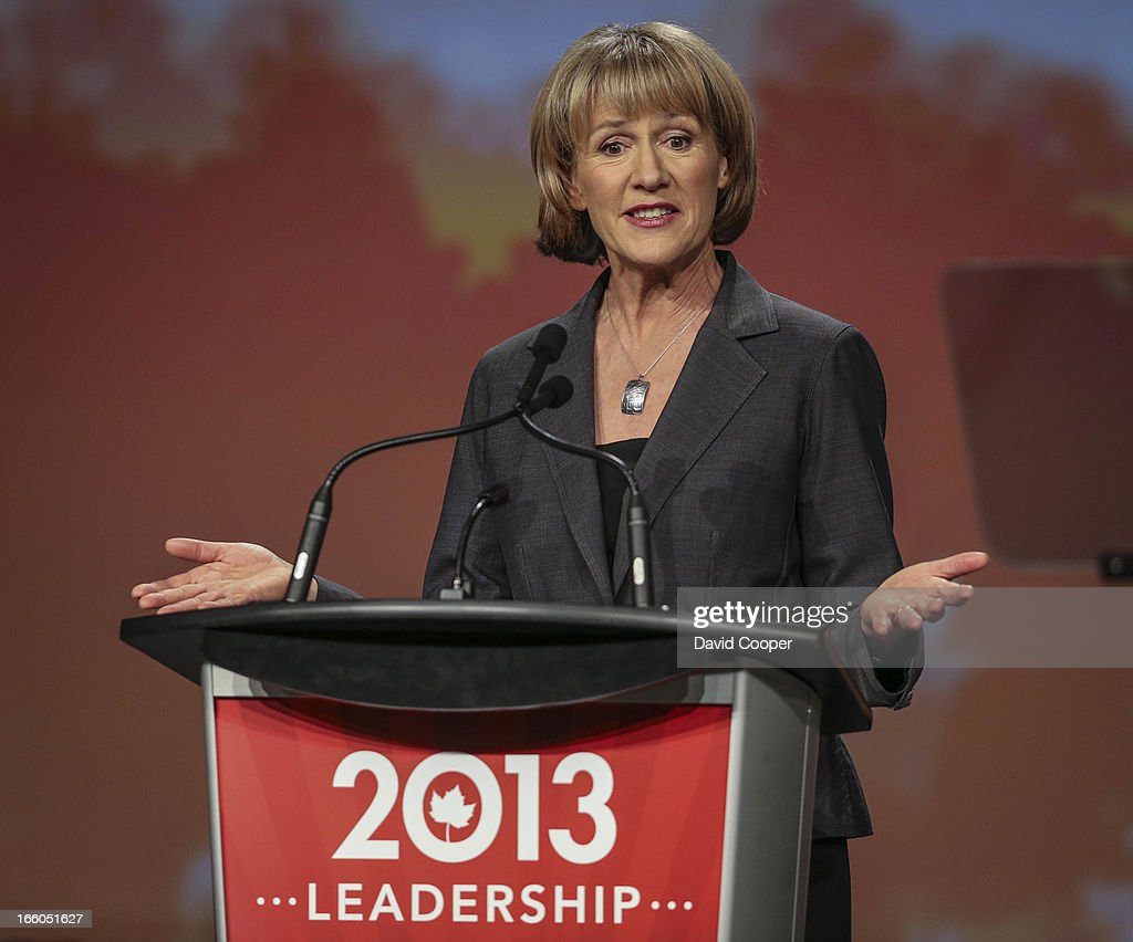Joyce Murray addresses the crowd at the federal Liberal showcase at the Metro Toronto Convention Centre.