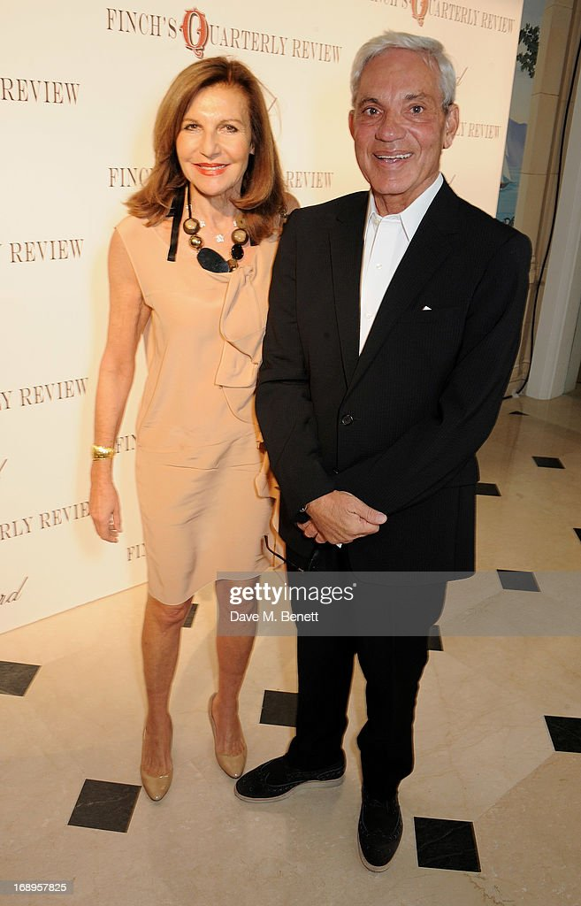 Joyce Reuben (L) and Simon Reuben attend the annual Finch's Quarterly Review Filmmakers Dinner hosted by Charles Finch, Caroline Scheufele and Nick Foulkes at Hotel Du Cap Eden Roc on May 17, 2013 in Antibes, France.