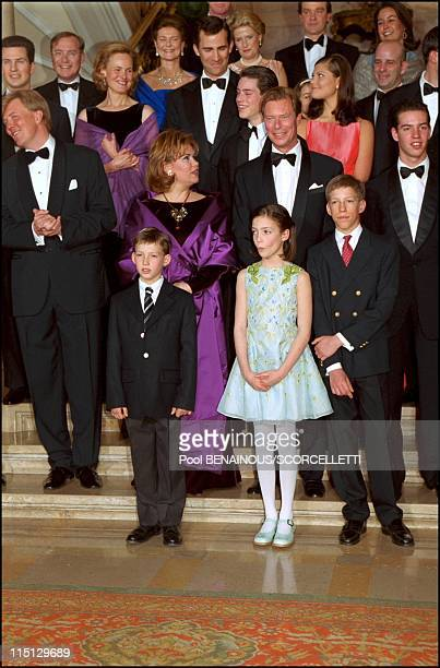 'Joyeuse Entree' Festivities for the Grand Duke Henri and Grand Duchess Maria Teresa in Luxembourg city Luxembourg on April 07 2001