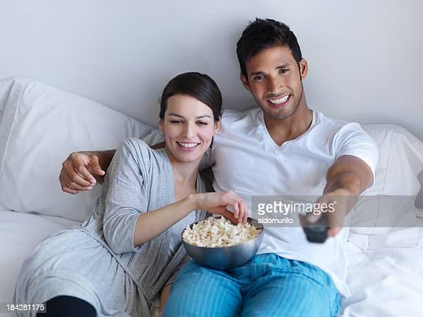 Alegre Casal Ver Televisão