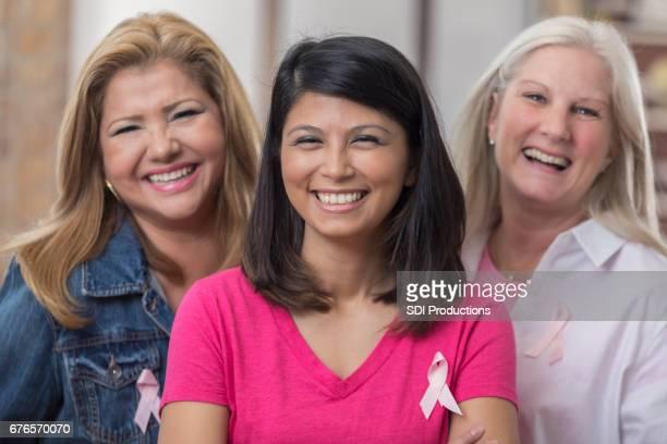 Joyful diverse breast cancer survivors