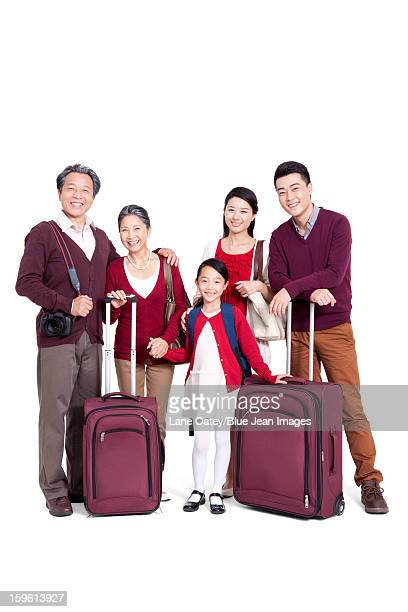 Joyful family going for a vacation