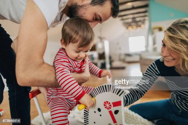Joyful family moments