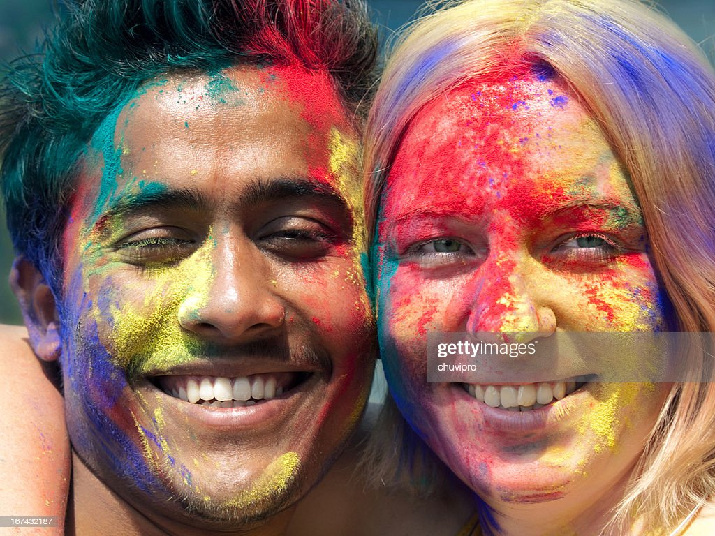 Joyful Holi : Stock Photo