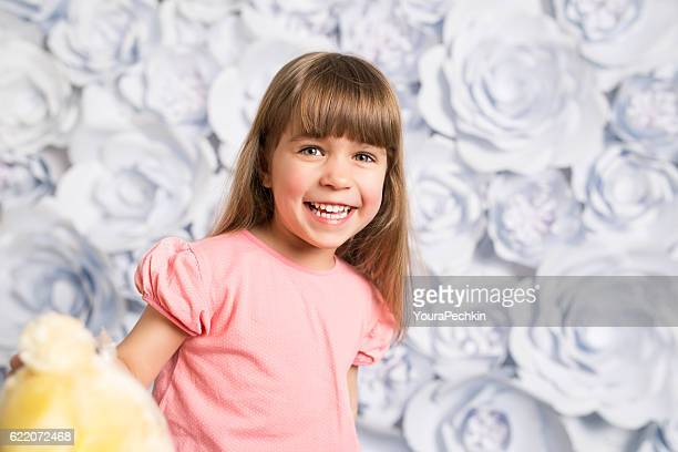 Joyful little girl portrait
