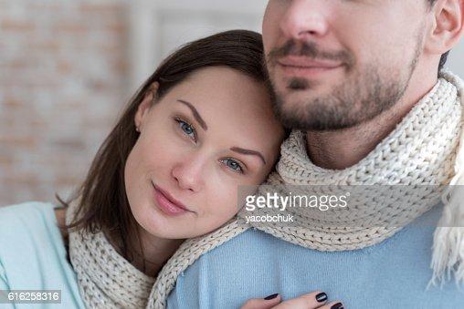 Joyful optimistic woman looking at you : Foto de stock